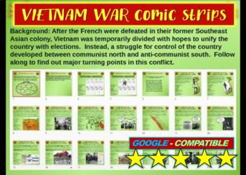 Vietnam War Comic Strip Activity - Fun, organized, engagin