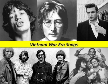 Vietnam War Music Activity:  Songs, lyrics and questions.