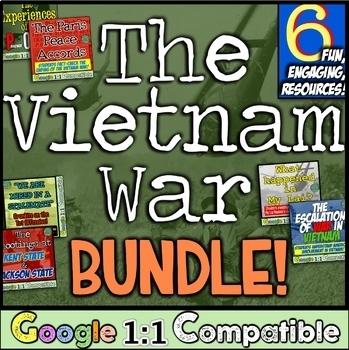 Vietnam War Bundle! 6 Hands-On & Engaging Vietnam War Resources!