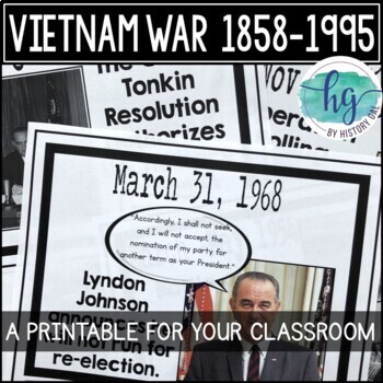 Vietnam War Timeline {A Printable for Your Classroom}