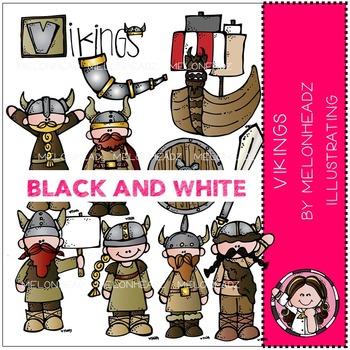 Vikings by Melonheadz BLACK AND WHITE