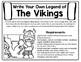 Vikings Activity - Write Your Own Vikings Legend - Vikings