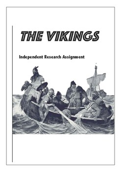 Vikings Research Task with Marking Criteria