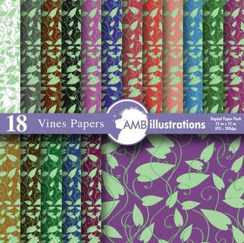Vines pattern, floral, vine background, floral, vines digi