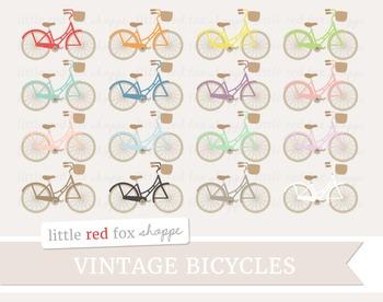 Vintage Bicycle Clipart; Bike