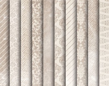 Vintage Damask  Papers, Vintage, Damask, Set #254