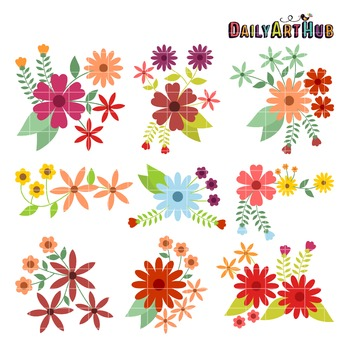 Vintage Flowers Clip Art - Great for Art Class Projects!