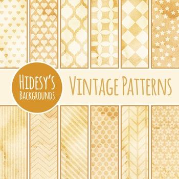 Vintage / Grunge / Patterns Backgrounds Clip Art Pack for