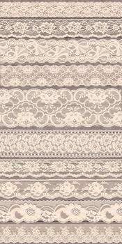 Vintage Ivory Lace Beige borders png clipart wedding scrap