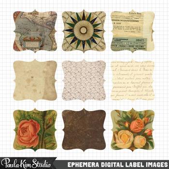Vintage Paper Bracket Frames