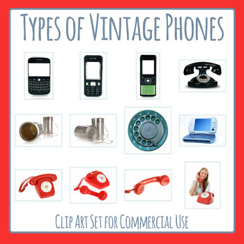 Vintage Phone Photos / Telephones of Past Technology Clip