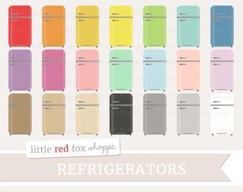 Vintage Refrigerator Clipart