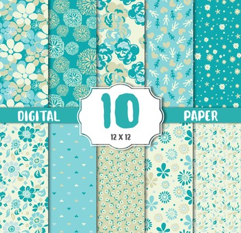 Vintage floral,flower Background, Digital paper