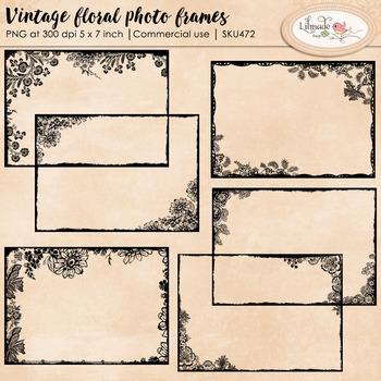 Vintage photo frames, digital frames