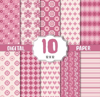 Vintage sweet, pink floral,flower Background, Digital paper