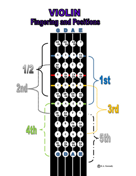 Violin Viola Cello Bass Fingering Chart
