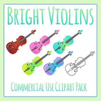 Violins Music Clip Art for Commercial Use