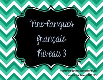 Vire-langues français, niveau 3
