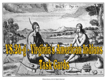 Virginia American Indians SCOOT / Task Cards (VS.2d-g)