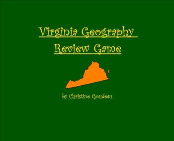 Virginia Geography & Regions Review SMARTboard Game