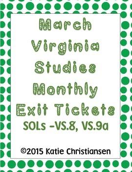 Virginia History March Review VS.8, VS.9a