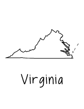 Virginia Map Coloring Page Activity - Lots of Room for Not