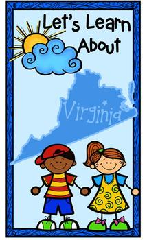 Virginia Primary Research Project with Easy-to-Read State Book