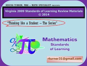 Virginia SOL Review TEIs Math Grade 8