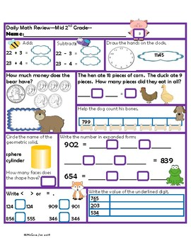Virginia Mathematics Standards for Learning Mid 2nd Grade