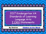 Virginia Standards of Learning Kindergarten Language Arts