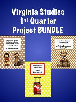 Virginia Studies 1st Quarter Project BUNDLE