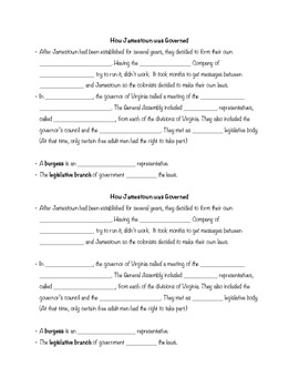 Virginia Studies 3d Interactive Notes