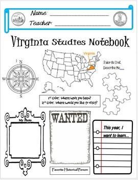 Virginia Studies Interactive Notebook Cover