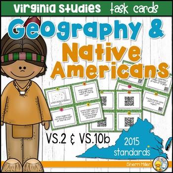 Virginia Studies Task Cards - VA Geography & Native Americ