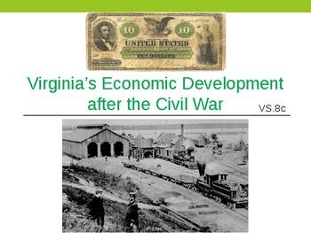 Virginia Studies VS.8c Virginia's Economy Economic After t
