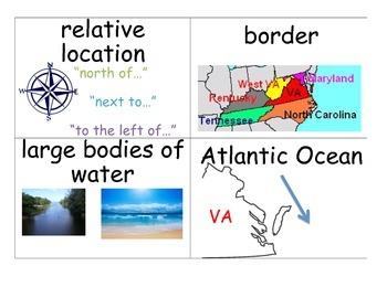 Virginia Studies Word Wall Cards