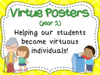 Virtue Posters (Year 1) for Primary Grades