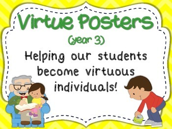 Virtue Posters (Year 3) for Primary Grades