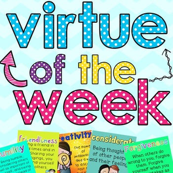 Virtue of the Week Posters and Reflection Book
