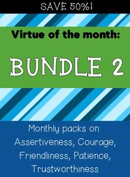Virtues Bundle: Assertiveness, Courage, Friendliness, Pati