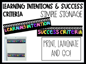 Visible Learning - Learning objective, Success Criteria