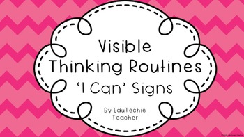 Visible Thinking Routines: 'I Can' Statement Signs