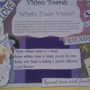 Vision Board art and goal setting lesson