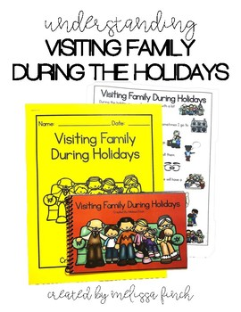 Visiting Family During Christmas- Social Story for Student