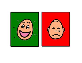 Visual Aid - Happy Sad Face
