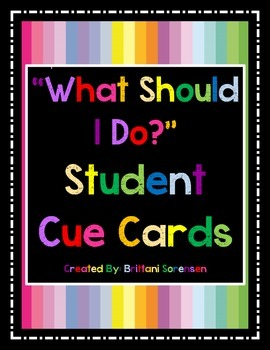 """Visual Aides to Minimize """"What Should I Do?"""" Questions in"""