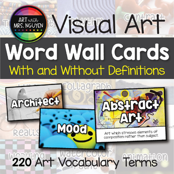 Art Word Wall Cards (216 vocabulary words with images)