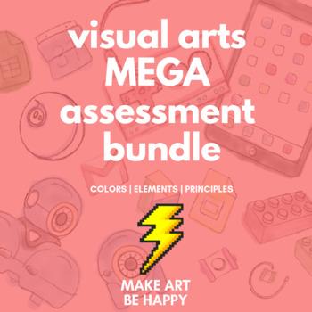 Visual Arts Assessment MEGA Bundle: Colors Test, Elements