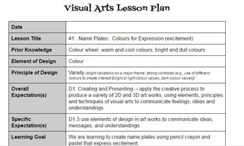 Visual Arts: Colour FULL UNIT PLAN (3-4 week unit)
