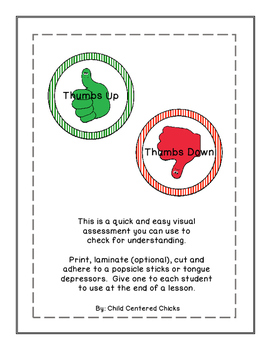 Visual Assessment to check for understanding